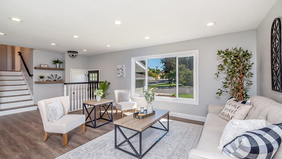 Living space designed by John Creek Home Improvement